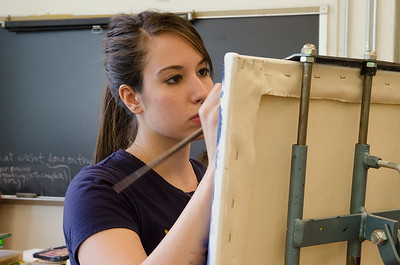 Painting class in Fairbanks Hall