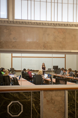 Classroom in Federal Hall, Scott College of Business