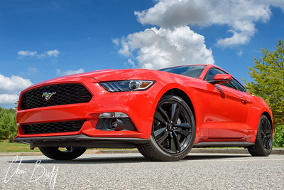 Red, White & Blue - 2016 Ford Mustang Ecoboost with the Performance Package - 2016 Christopher Buff, www.Aviationbuff.com