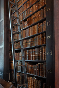 Bookcase at Trinity College Library, Dublin, Ireland