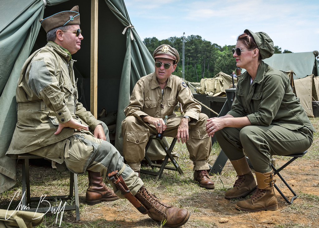 US Soldier Re-enactors at the 2013 WWII Heritage Days. Peachtree City, GA