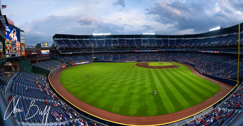 Panorama of Atlanta Braves Turner Field. 6 vertical shots merged together. 8/13/2012 by Chris Buff