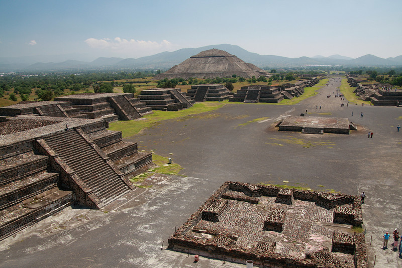 Teotihuacan, Mexico. These pyramids were part of a vast city that saw its heyday around 2000 years ago.