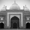 The imposing mosque in the Taj Mahal complex