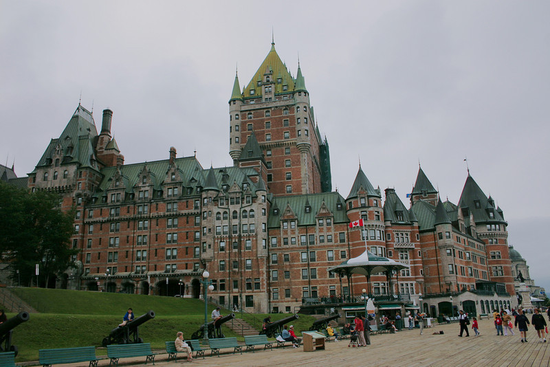 Chateau Frontenac in the heart of the historic district of Quebec City, Quebec. This famous hotel built in 1899 has over 600 rooms.