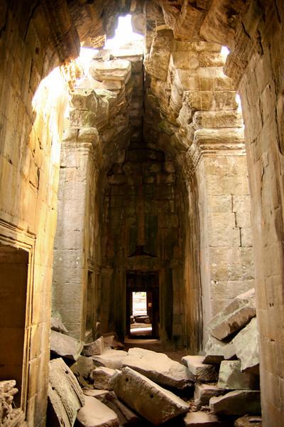 The ruins of Bayon temple in Angkor Wat