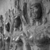 Vivid bass reliefs in Angkor Wat