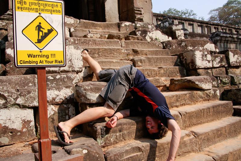 Angkor Wat, Cambodia. I guess Luke didn't read the sign...