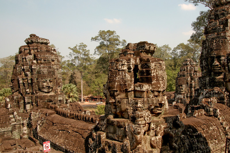 Bayon temple in the Angkor Wat complex, Cambodia