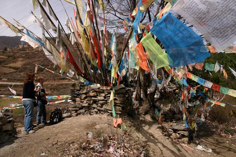 Tibetan prayer flags in Heishui, Sichuan
