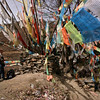 Tibetan prayer flags in Heishui, Sichuan