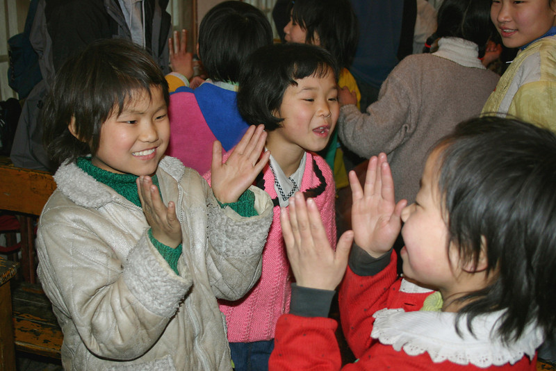 Children playing in an orphanage in Jingzhou, Hubei province, China