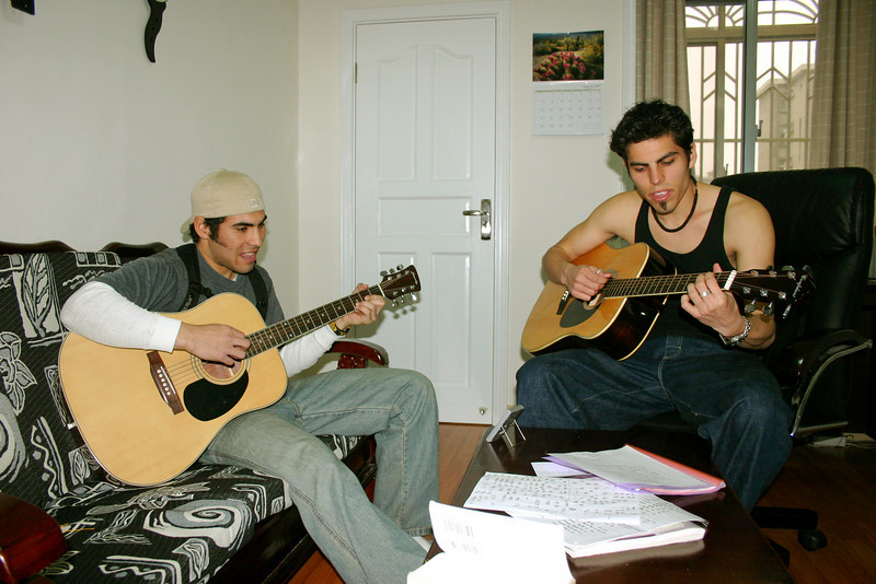 Good friends, guitars, what more do you need in life?