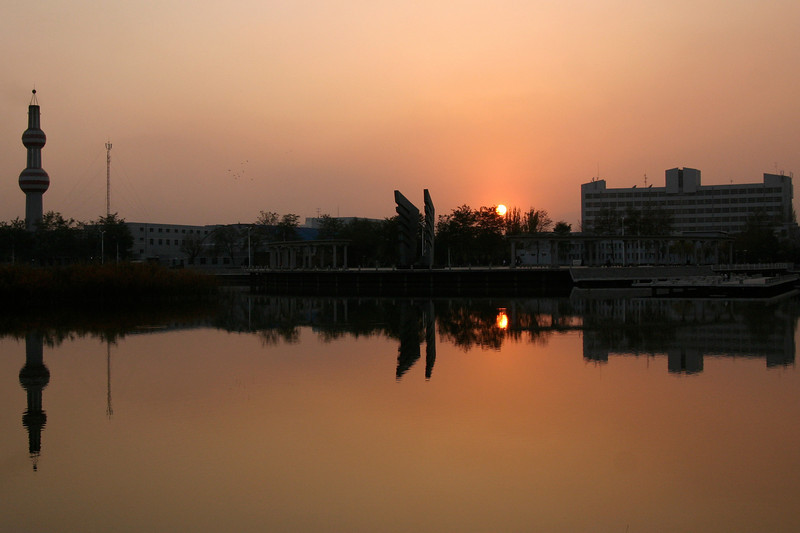 A university campus in Yinchuan, Ningxia