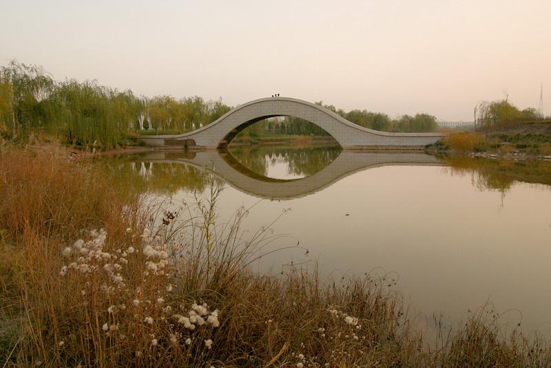 A university campus in Yinchuan, Ningxia