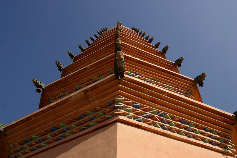 One of the Twin Pagodas of the Bai Monastery, near Yinchuan, China