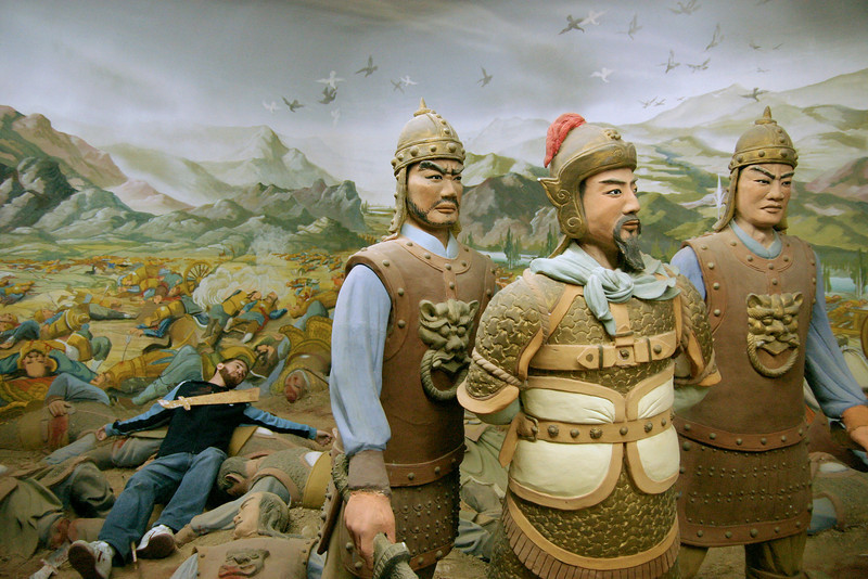 Photo courtesy of Erin. Battle scene in the museum at the Western Xia tombs in Ningxia, China.