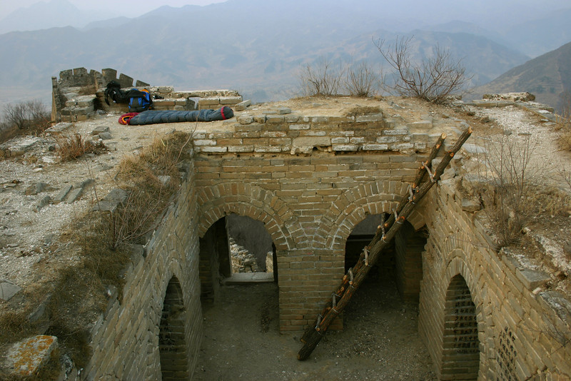 Camping on the Great Wall, near Beijing