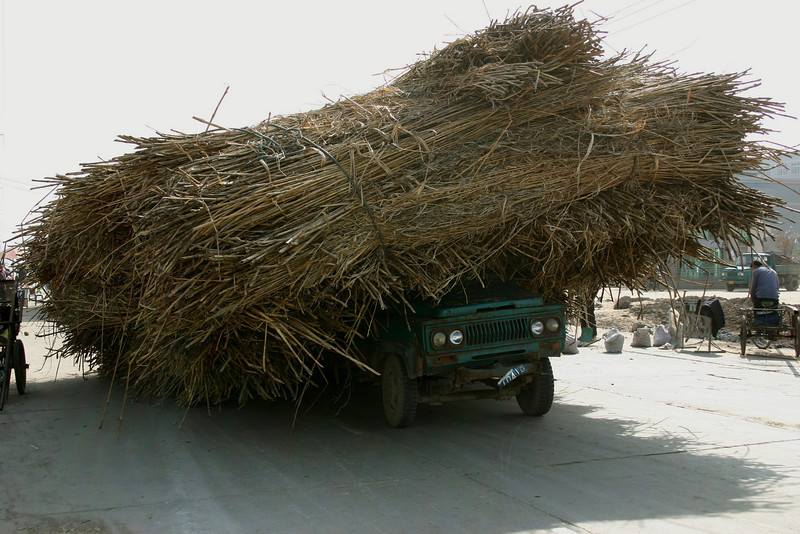 An overloaded truck in Jingzhou, Hubei province, China