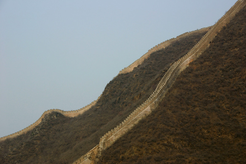 This section of the Great Wall, near Beijing, was extremely steep