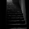 A stairwell in the abandoned Royal Palace in Leh
