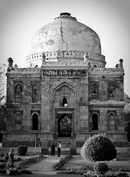 Photo courtesy of Erin. A ruined edifice, dating from the late 1400s, in Delhi's Lodi Gardens