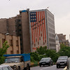 Every single person we spoke to in Iran, as far as I can remember, was happy to meet us and happy with America. In a few places in Tehran, however, you can still see anti-American government propaganda, such as this huge mural on the side of a building. Most Iranians we spoke with were embarrassed by such displays.