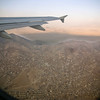 Kabul out the airplane window