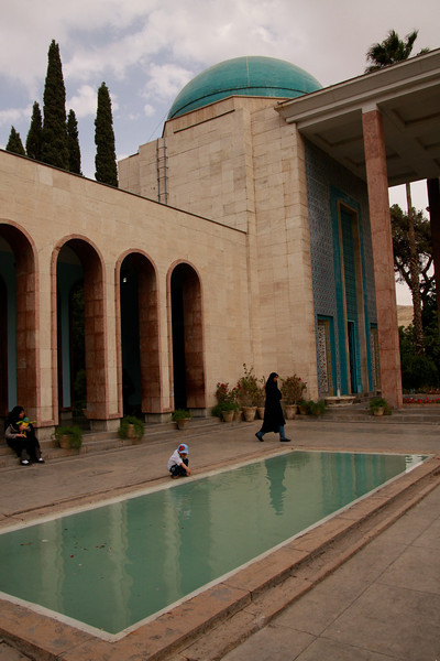 The tomb and memorial of Saadi, one of the most famous Persian poets who lived in the 12th and 13th centuries. Shiraz, Iran.