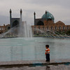 A child wanders in Naqsh-e-Jahan Square, Esfahan