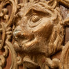 Lion face on a museum door