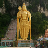A 132-ft tall statue of the Hindu god Muruga guards the entrance to the Batu caves, a few miles north of Kuala Lumpur. Although Malaysia is a predominantly Muslim country there are sizable Hindu and Christian minorities.