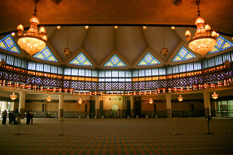 The interior of the Negara Mosque, KL