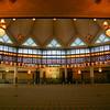 The interior of the Negara Mosque, KL