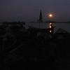 Moonrise over the Niger River, Bamako