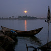 Moonrise over the Niger River, Mali