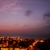 Sunset over Huanchaco and the Pacific Ocean
