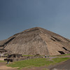 Pyramid of the Sun, Teotihuacan, Mexico. In 1971 a vast tunnel and cave system was discovered underneath this temple, and it has never yet been fully explored.