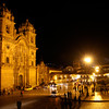 The impressive Iglesia de la Compania de Jesus, a Jesuit church on Cusco's Plaza de Armas. It dates from the late 1500s and is said to be one of the best examples of colonial Baroque architecture in the Americas.