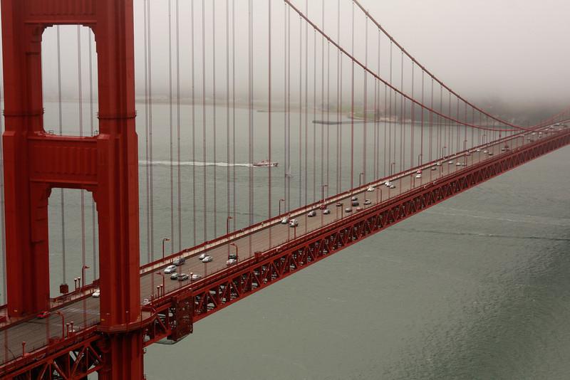 Looking south across the Golden Gate Bridge, San Francisco