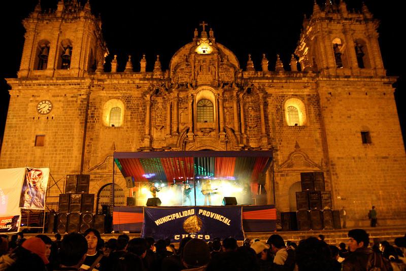 Rock concert, Peruvian style. Cusco, Peru.
