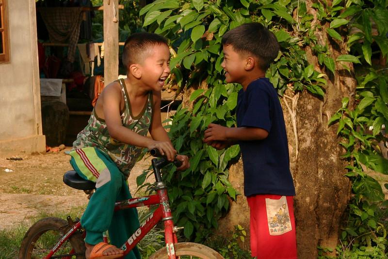 Sharing a laugh