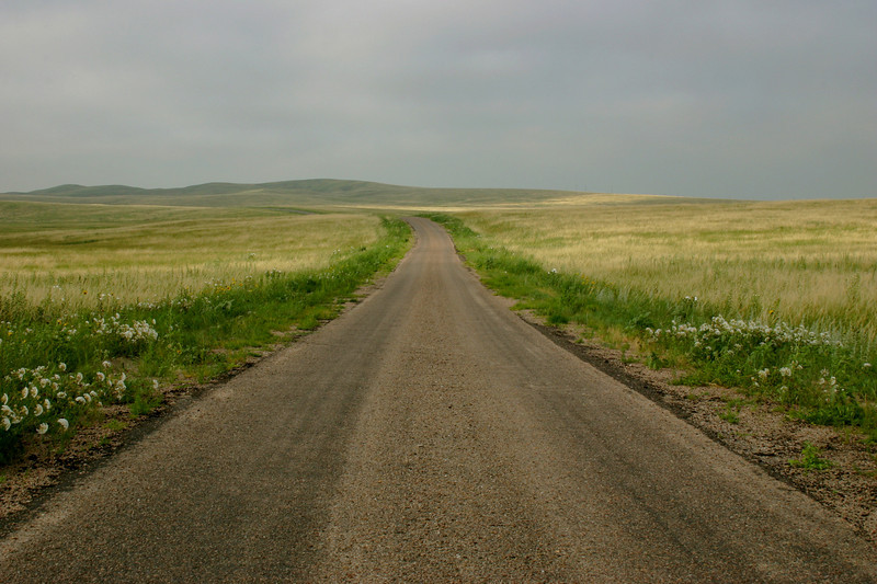 An empty road in Nebraska. I think the haunting Nebraska prairie was the highlight of the entire trip for me.
