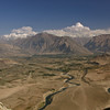 Looking east towards the Wakhan corridor in Badakshan. Somewhere in the distance (probably out of view) is 25,000-ft Noshaq, Afghanistan's highest peak.