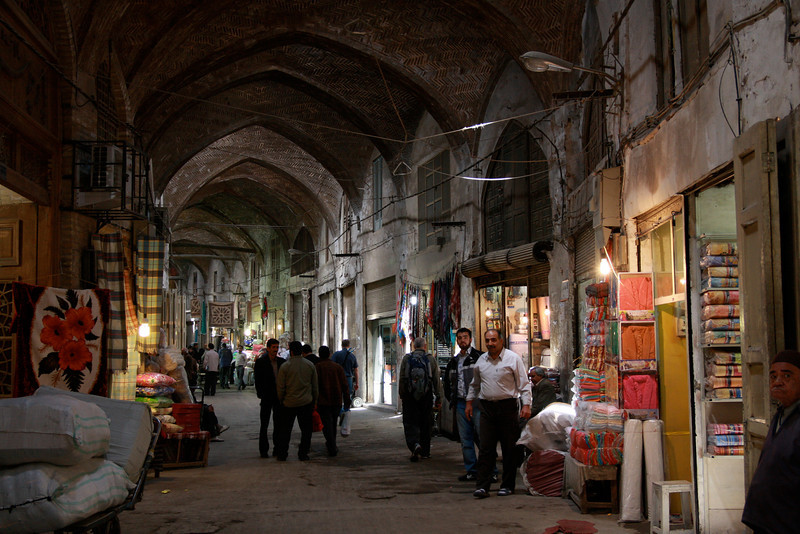 The covered bazaar in Esfahan is one of the largest in the world, with several kilometers of alleys