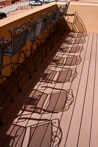 The late afternoon sun on our hotel balcony made for an interesting picture