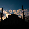 The Blue Mosque at sunset. Istanbul, Turkey.