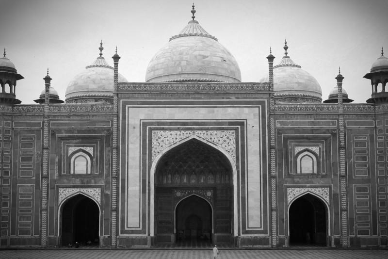 The imposing mosque in the Taj Mahal complex