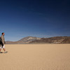 Marcus strolling across the Racetrack, Death Valley National Park
