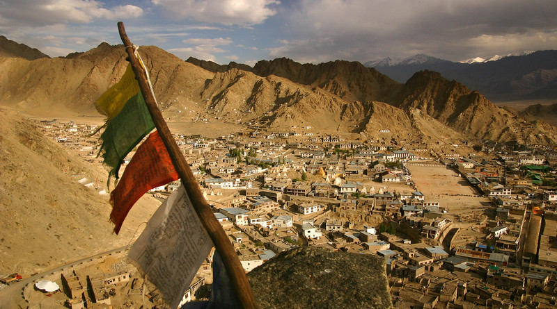 The old city of Leh, capital of Ladakh